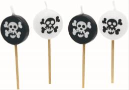 8 Mini-Figurenkerzen Piraten