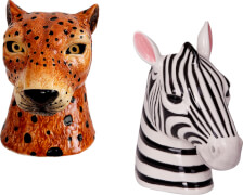 Vase Leopard & Zebra I love my Jungle Garden, sortiert