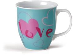 NICI Tasse ''Love'' türkis # 9,5x10cm Porzellan