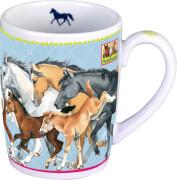 Porzellan-Tasse Pferdefreunde