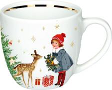 Porzellan-Tasse Weihnachtskinder  Schöne Weihnachtszeit!