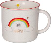 Porzellan-Tasse Just Happy Viel Glück