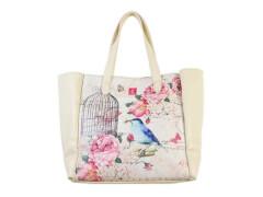 Handtasche klein Vogelkäfig PU 22 x 23