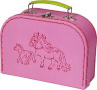 Die Spiegelburg 15204 Mein kleiner Ponyhof - Spielkoffer (weißes Shetland-Pony)