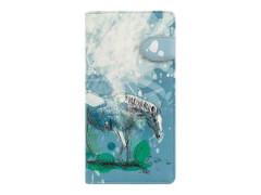Langbörse Wildpferd blau