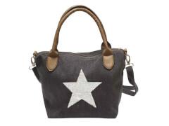 Canvas Satchel Tasche blau mit Stern