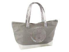 Canvas Shopper taupe Yin Yang