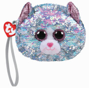 TY WHIMSY BLUE CAT WRISTLET - SEQUINED