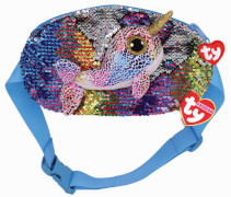 TY CALYPSO NARWHAL BELT BAG - SEQUINED