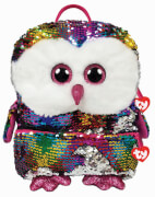 TY OWEN OWL SQUARE BACK PACK - SEQUIN