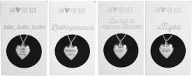 Depesche 10801 Halskette mit Herzanhänger, versilbert