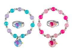 Set Armband + Ring Vogel 2 Farben