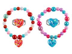 Set Armband + Ring Herz 2 Farben
