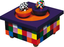 Holz Spieldose Tanzender Elmer©