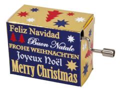 fridolin - Weihnachtsspieluhr - Merry Christmas, mit Goldprägung