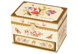 Spieldose Schublade Blumen, Ballerina