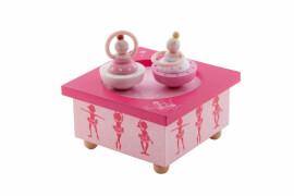 Holz Spieldose Ballerina Rosa