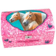 Depesche 8934 Horses Dreams Schmuckkästchen  mit Geheimfach, Motiv 2, pink