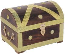 Piraten-Schatztruhe gold 28 cm