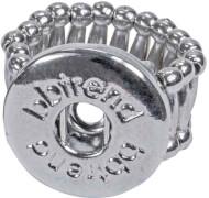 Button Up Ring Metall 16 Glied, Größe S