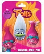 Trolls 2 Pins mit Haaren auf Backercard