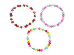 Armband mit bunten Perlen 3 Farben