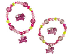 Set Armband + Ring Pferd 2 Farben