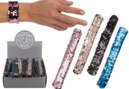 Pailletten-Schnapp-Armband 23cm