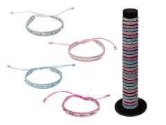 Armband mit farbigen Straßsteinen