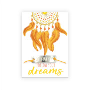 fertiges Armband follow your dreams