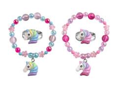 Set Armband + Ring Einhorn 2 Farben