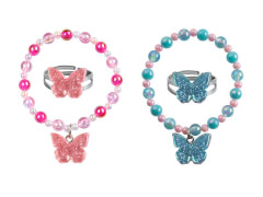 Set Armband+Ring Schmetterling 2Fb.