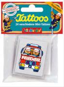 Mini-Tattoo-Set Feuerwehr 24-teilig