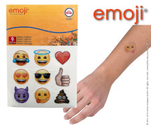 emoji® Glitzer-Tattoos