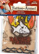 Tattoo-Ärmel Capt'n Sharky, one size (ca. 3-6 Jahre)