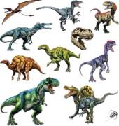 Tattoos T-Rex World (mit Glimmer)