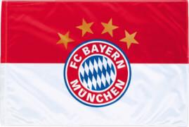 FC Bayern München 11850 FCB Fahne Logo 60x40cm m.Stock