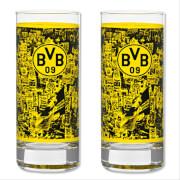 BVB Wasserglas 2er-Set