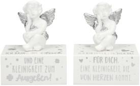 Depesche 10877 WUNSCHERFÜLLER Engelfigur auf Box