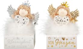 Depesche 10878 WUNSCHERFÜLLER Engel im Federkleid auf Box