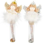 Depesche 10880 WUNSCHERFÜLLER Engelfigur auf Glasröhrchen