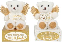 Depesche 10881 WUNSCHERFÜLLER Schutzengelbär Gold auf Box