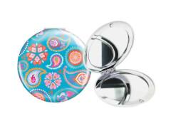 Taschenspiegel Blütenmeer türkis