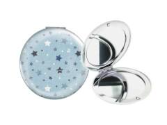 Taschenspiegel Sternenhimmel hellblau