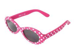 Flex Sonnenbrille pink mit weißen Punkten