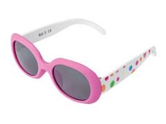 Flex Sonnenbrille pink mit bunten Punkten