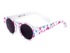 Flex Sonnenbrille weiß mit Butterflies