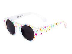 Flex Sonnenbrille weiß mit bunten Punkten