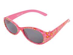 Sonnenbrille pink mit Blumen