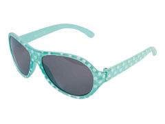 Sonnenbrille türkis mit weißen Punkten